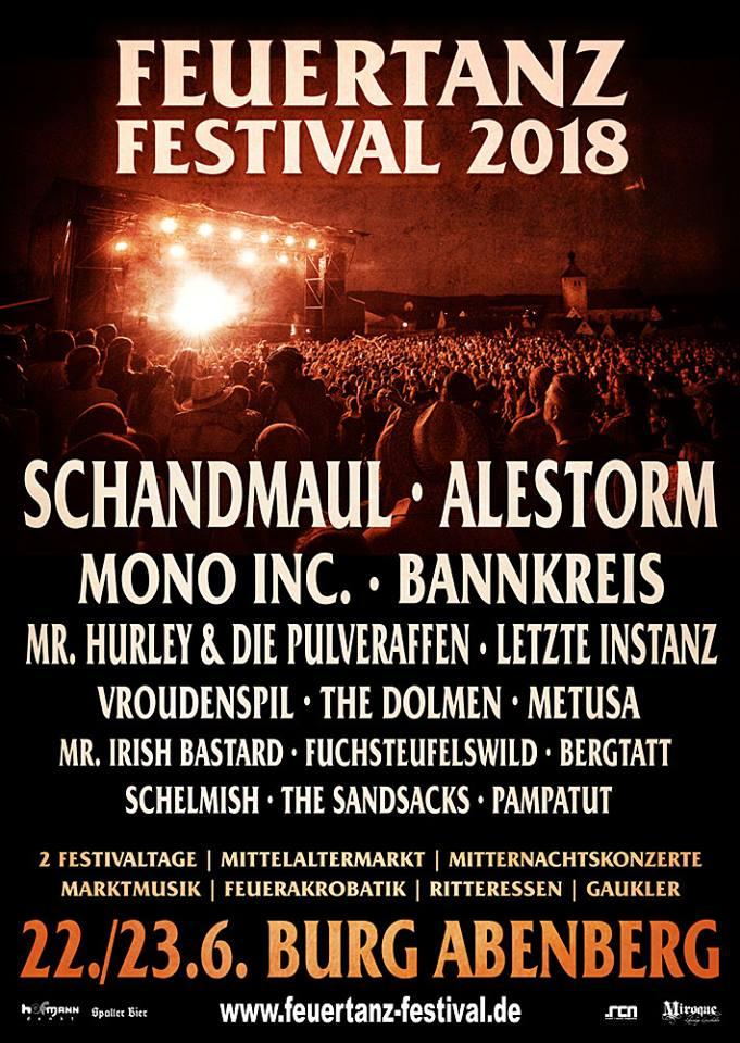 Flyer Feuertanz Festival 2018